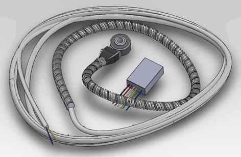 Аккустический датчик моточасов для систем ГЛОНАСС